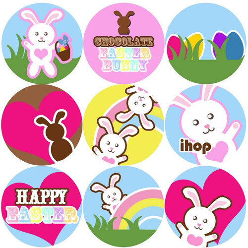 Sticker Stocker 144 Easter Bunnies 30mm Reward Stickers for Teachers, Parents and Spring Party Bags