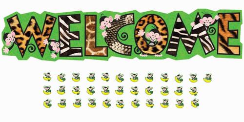 Trend Enterprises Inc Monkey Mischief Welcome Bulletin Board Classroom Display Banner