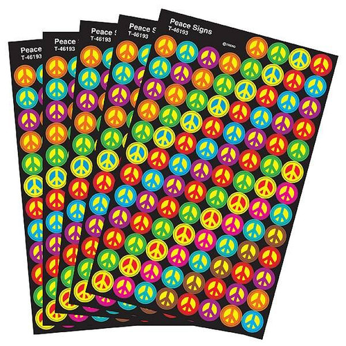 Trend Enterprises Inc 2500 TREND Peace Signs superSpots Reward Stickers