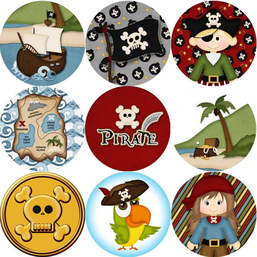 Sticker Stocker 144 Pirate Adventure 30mm Childrens Reward Stickers for Teachers or Parents