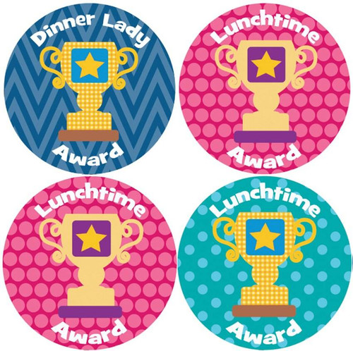 Sticker Stocker 144 Dinner Time Trophies 30mm Childrens Reward Stickers for Teachers or Parents