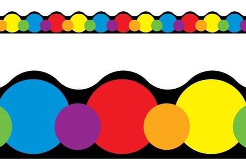 Trend Enterprises Inc Classroom Trimmers Notice Board Display Borders - Colour Basics