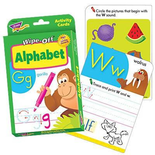 Trend Enterprises Inc Alphabet Wipe Off Educational Activity Game Cards