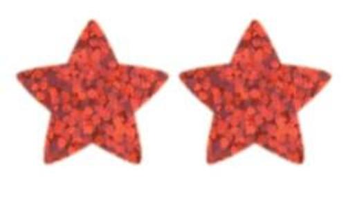 Trend Enterprises Inc 400 Red Sparkle Stars superShapes reward stickers