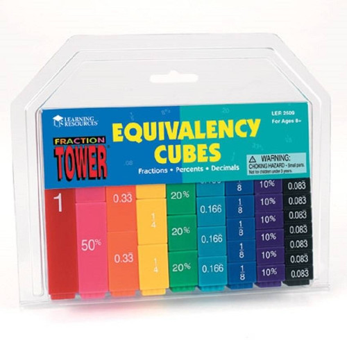 Learning Resources Fraction Tower Cubes - Equivalency Set by Learning Resources