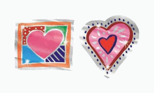 Trend Enterprises Inc Shiny Hearts Foil Bright Reward Stickers