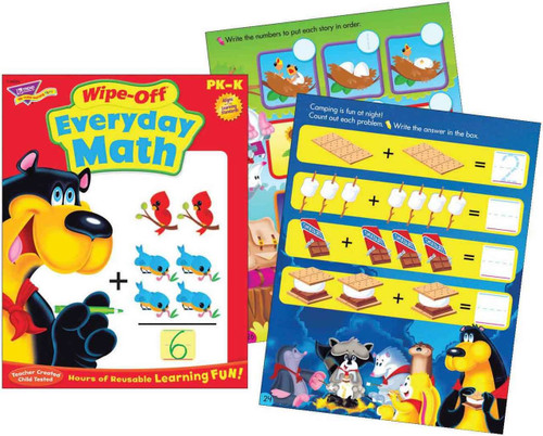 Trend Enterprises Inc Everyday Maths Wipe Off Educational Activity Book
