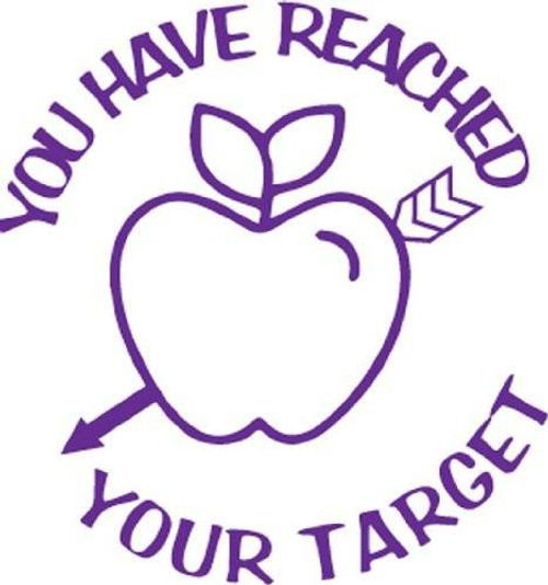 Trend Enterprises Inc You Have Reached Your Target - Self inking teacher reward xstamper xclamations stamp