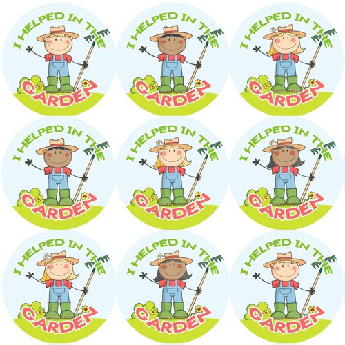 Sticker Stocker 144 Gardener Rewards 30mm Reward Stickers for Teachers or Parents