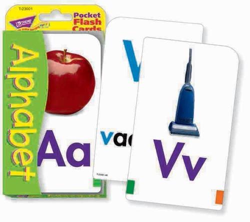 Trend Enterprises Inc Trend TEACHING ABC Alphabet Educational Pocket Flash Cards