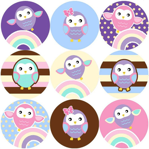 Sticker Stocker 144 Colourful Owls 30mm Reward Stickers for Teachers, Parents and Party Bags