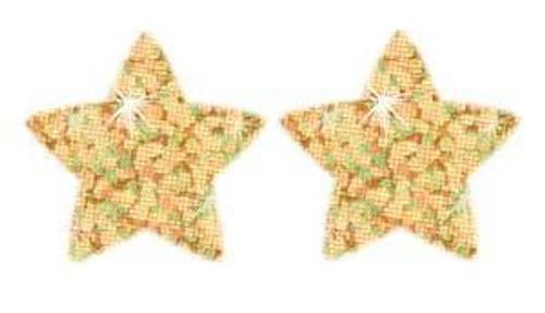 Trend Enterprises Inc 400 Gold Sparkle Stars superShapes reward stickers