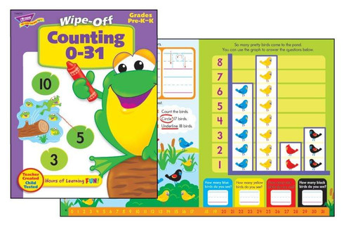 Trend Enterprises Inc Counting 0-31 Wipe off Re-usable Educational Activity Book