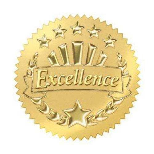 Trend Enterprises Inc 32 Gold embossed excellence award seals certificate Stickers