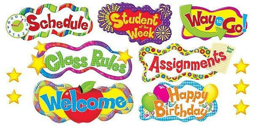 Trend Enterprises Inc Classroom Headlines Headers Classroom Display Board set
