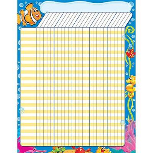 Trend Enterprises Inc Sea Buddies Design Large Durable Incentive Wall Reward Chart
