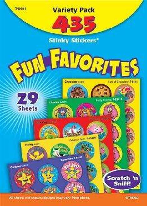 Trend Enterprises Inc 435 Fun Favourites Variety Pack Stinky Smelly Reward Stickers