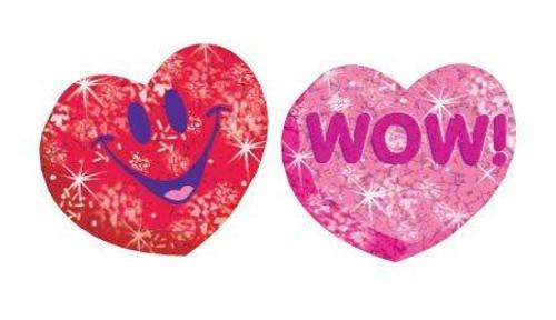 Trend Enterprises Inc Heart Hoorays Sparkle Reward Stickers