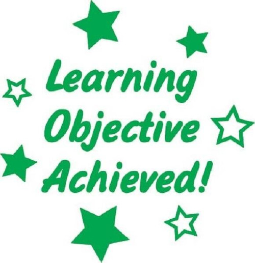 XStamper Learning objective achieved - Self inking teacher reward xstamper xclamations stamp 1