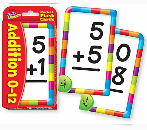 Trend Enterprises Inc Trend TEACHING ADDITION Educational Pocket Flash Cards