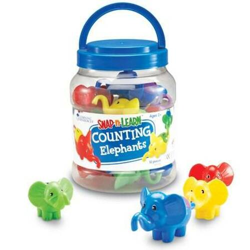 Learning Resources Learning Resources - Snap N Learn Counting Elephants set of 10