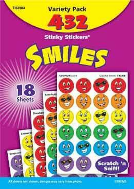 Trend Enterprises Inc 432 TREND Smiles Scratch and Sniff Stinky Reward Stickers