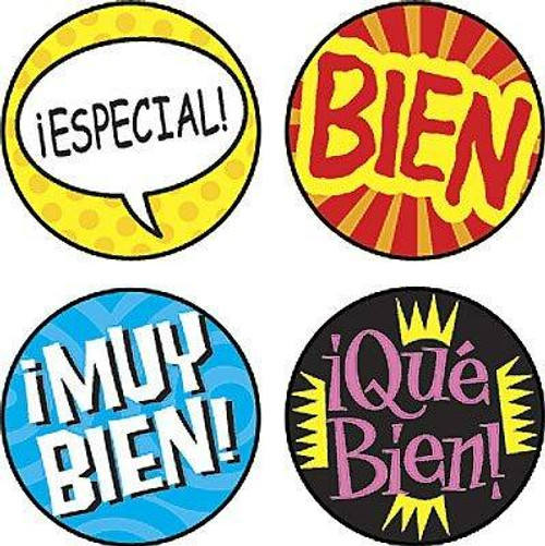 Trend Enterprises Inc 800 Palabras de Elogio superSpots Spanish reward Stickers