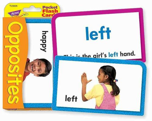 Trend Enterprises Inc Trend OPPOSITES educational pocket Flash Cards