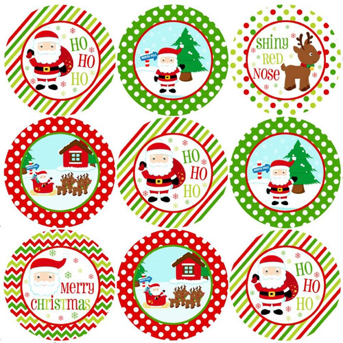 Sticker Stocker 144 Jolly Christmas 30mm Childrens Reward Santa Stickers for Teachers or Parents