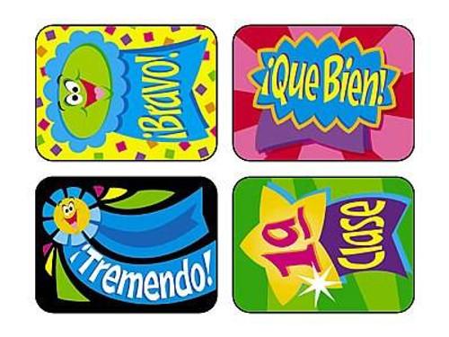 Trend Enterprises Inc 100 TREND Spanish Ribbons, Cintas de Premios reward stickers
