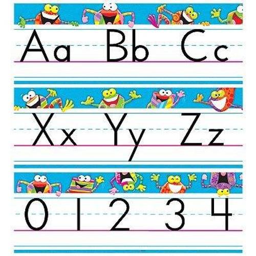 Trend Enterprises Inc Frog-tastic Alphabet and number Line Classroom Display Set