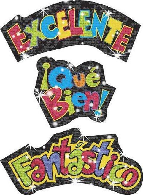Trend Enterprises Inc Spanish Praise Words Sparkle Reward Stickers - Celebra Tus Logros