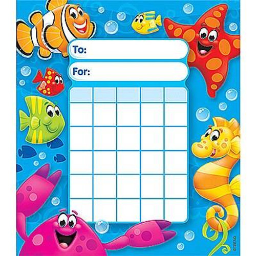 Trend Enterprises Inc Sea Buddies Incentive Chart Pad and 200 Free Reward Stickers