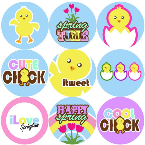 Sticker Stocker 144 Spring Chick 30mm Reward Stickers for Teachers, Parents and Easter Party Bags