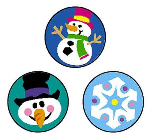 Trend Enterprises Inc 800 Winter Joys SuperSpots mini reward Stickers