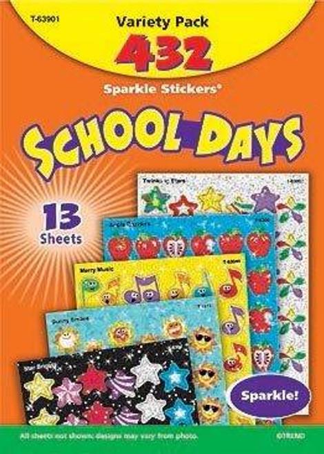 Trend Enterprises Inc 432 TREND School Days Variety Pack Sparkle Reward Stickers
