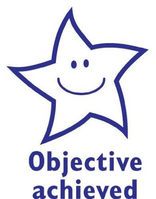 Trend Enterprises Inc Objective Achieved Star- Self inking teacher reward xstamper xclamations stamp
