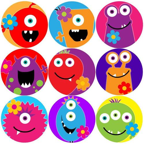 Sticker Stocker 144 Monster Flowers 30mm Childrens Reward Stickers for Teachers or Parents