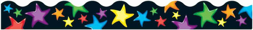 Trend Enterprises Inc Classroom Trimmers Notice Board Display Borders - Gel Stars