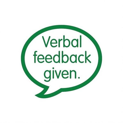 XStamper Verbal Feedback Given - Self inking teacher reward xstamper xclamations stamp