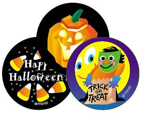 Trend Enterprises Inc 60 TREND Halloween liquorice Scratch n Sniff Reward Stickers