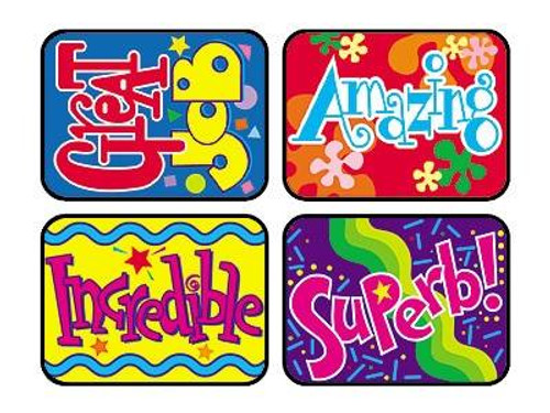Trend Enterprises Inc TREND 100 Large Wonderful Words Applause reward stickers