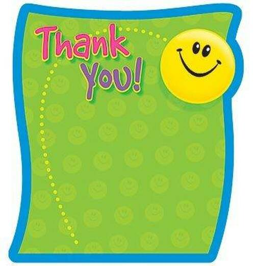 Trend Enterprises Inc Thank You Themed Fun Shaped Kids Note Pad