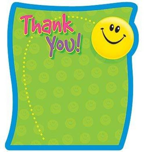 Trend Enterprises Inc Thank You Themed Fun Shaped Kids Note Pad