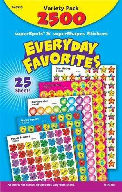 Trend Enterprises Inc 2500 TREND Everyday Favourites superShapes reward Stickers