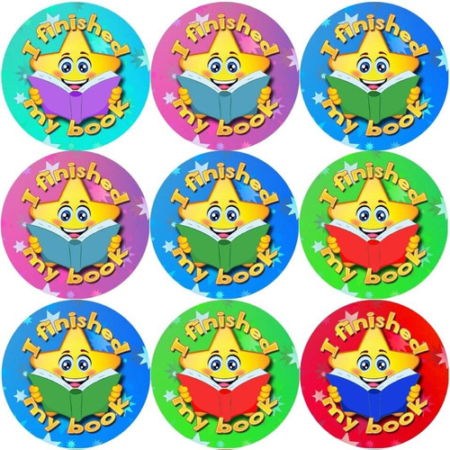 Sticker Stocker 144 I finished my book 30 mm Reward Stickers for School Teachers, Parents and Nursery
