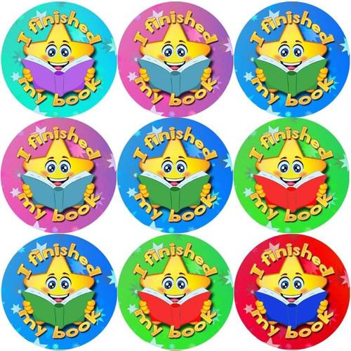 Sticker Stocker 144 I finished my book 30 mm Reward Stickers for School Teachers, Parents and Nursery