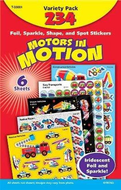 Trend Enterprises Inc 234 Motors in Motion Mixed Reward Stickers Variety Pack