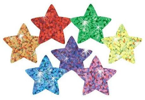 Trend Enterprises Inc 400 Colourful Sparkle Stars superShapes reward stickers