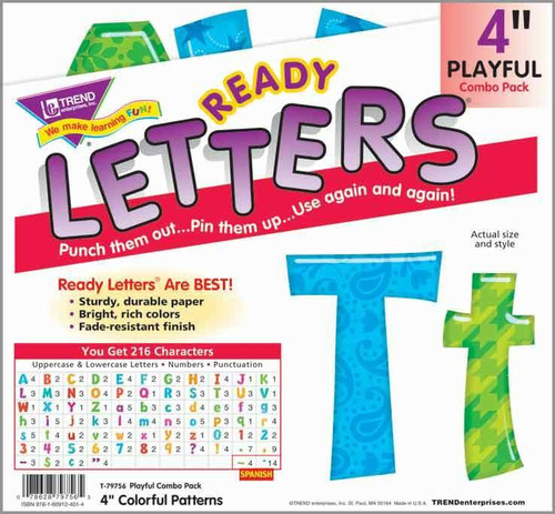 Trend Enterprises Inc Display Board Ready Letters - Colourful Patterns 4 combo pack